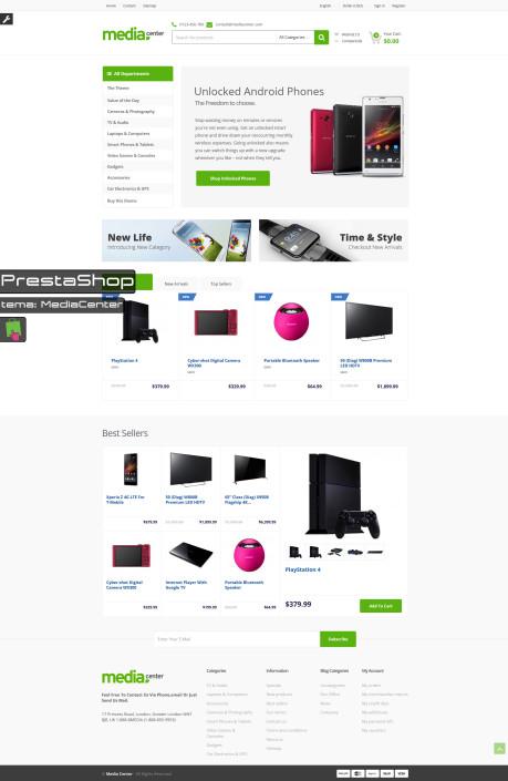 PrestaShop-MediaCenter